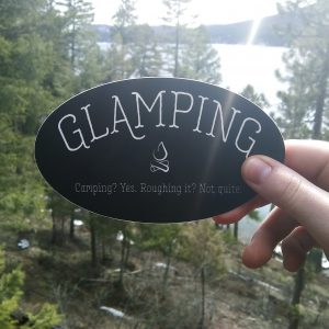 Glamping Oval Sticker
