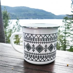 Aztec Metal Camp Mug