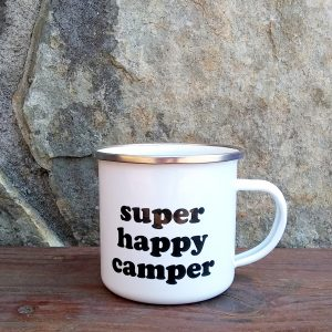 Super Happy Camper Metal Camp Mug