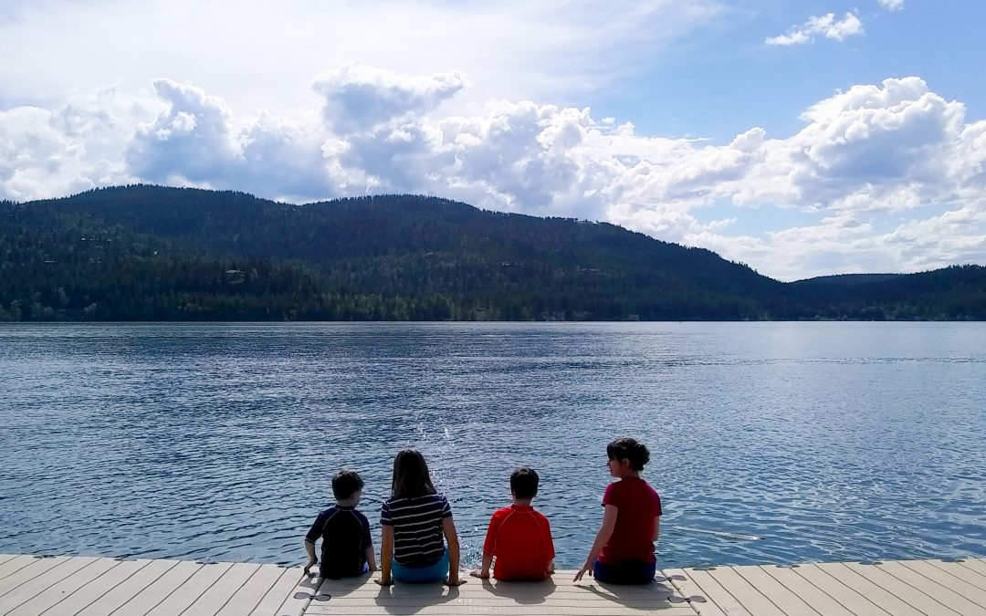On the Dock at Whitefish Lake