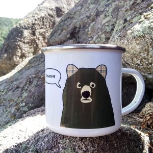 Bear With Me Metal Mug