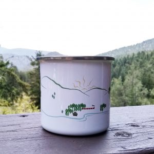 Whitefish Metal Mug