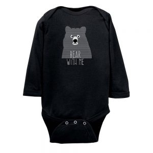 Striped Bear with Me Bodysuit