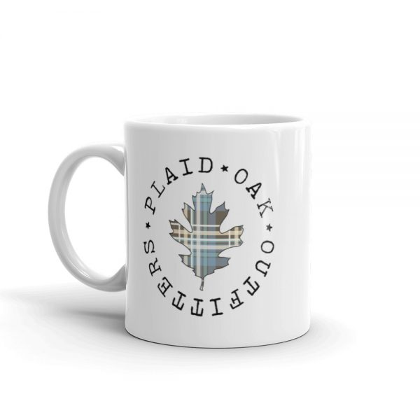 Plaid Oak Outfitters ceramic mug