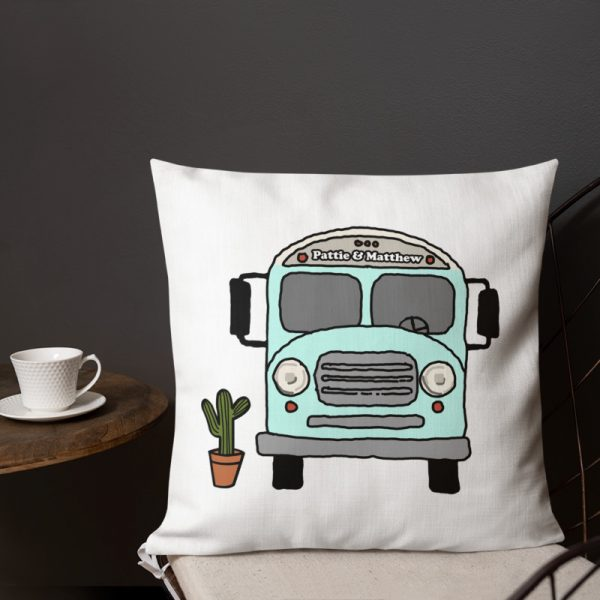 Personalized Bus Life Pillow