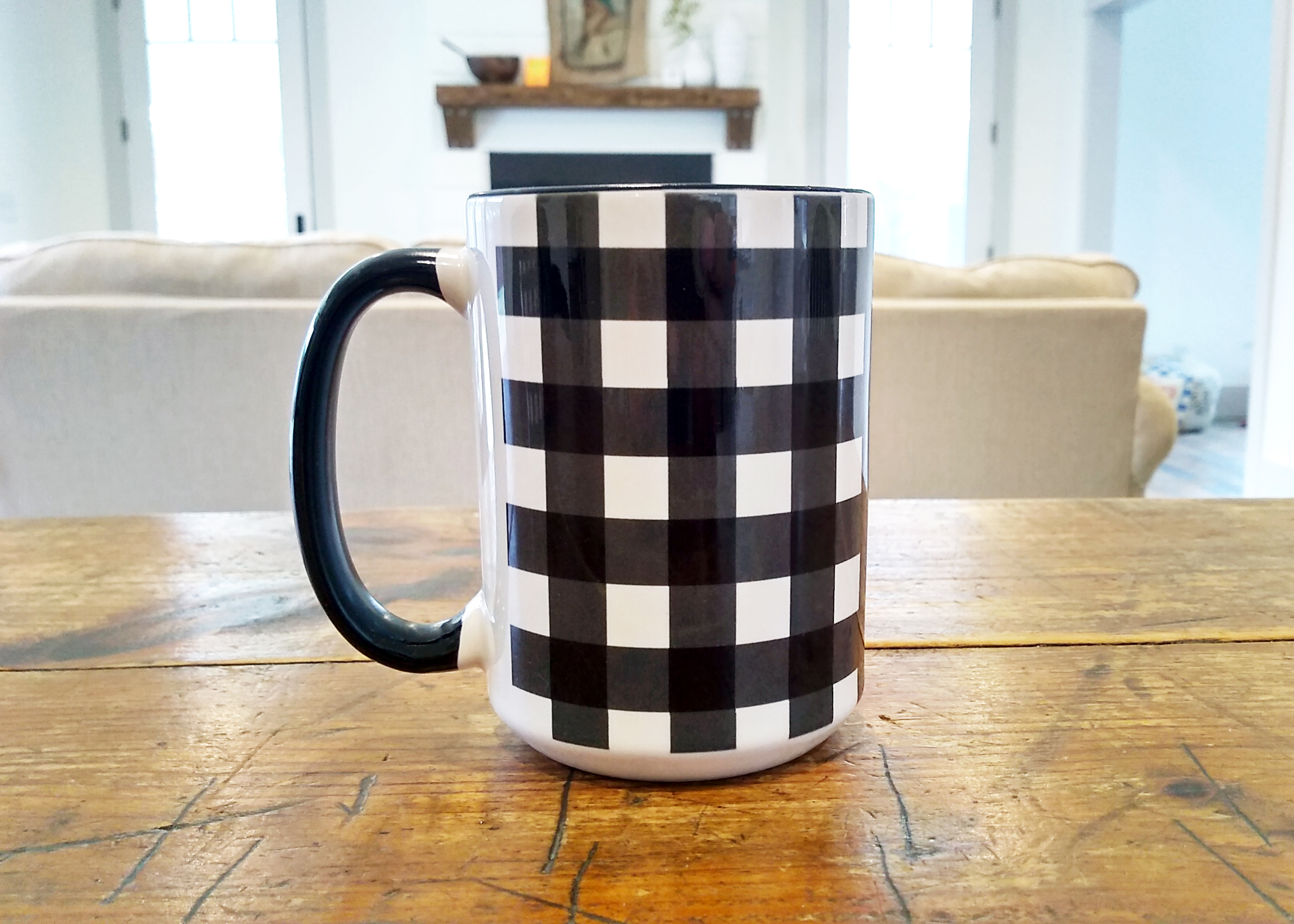 Buffalo Plaid Mug 15oz