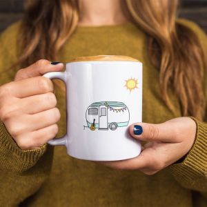 Small Spaces Happy Places Mug