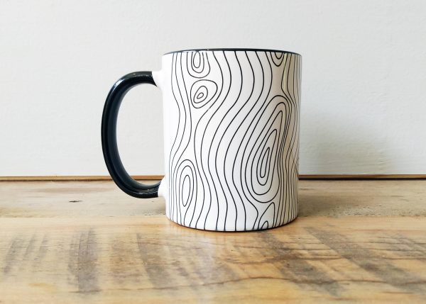 Tree Wood Grain Personalized Mug