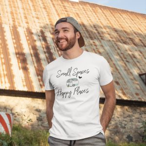 Small Spaces Happy Places unisex t-shirt