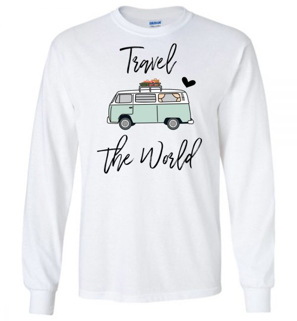 Van Life Travel the World long sleeve t-shirt