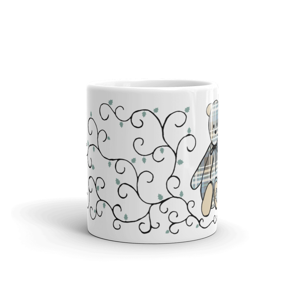 Oakie the Bear with Vines Mug