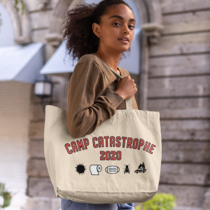camp catastrophe 2020 tote bag