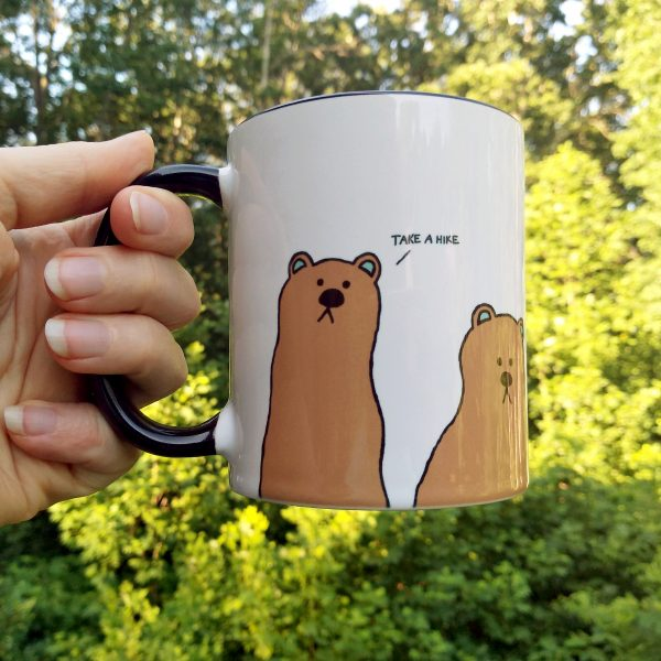 rude bears coffee mug