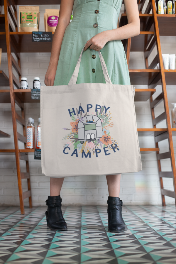 happy camper airstream tote