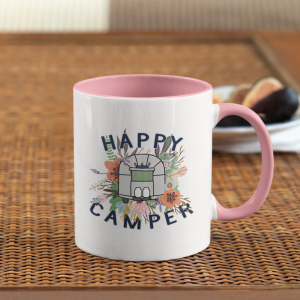 airstream floral happy camper mug